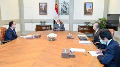 صورة الرئيس عبد الفتاح السيسي  اجتمع اليوم مع الدكتور مصطفى مدبولي رئيس مجلس الوزراء، والسيد طارق عامر محافظ البنك المركزي.