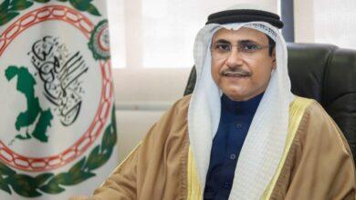 صورة رئيس البرلمان العربي يُهنيء جبالي برئاسة النواب المصري