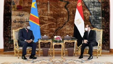 صورة الرئيس عبد الفتاح السيسي استقبل اليوم بقصر الاتحادية الرئيس فيليكس تشيسيكيدي، رئيس جمهورية الكونغو الديمقراطية