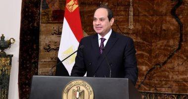 صورة الرئيس السيسى فى ذكرى تحرير سيناء: الأرض لنا هي العرض والشرف والكرامة وقدس الأقداس