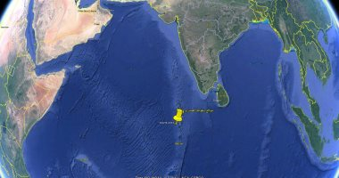 صورة البحوث الفلكية: الصاروخ الصينى سقط بالمحيط الهندى فى الرابعة و24 دقيقة فجرًا